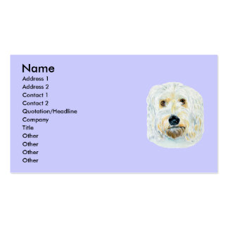 White labradoodle Maggie Business Cards