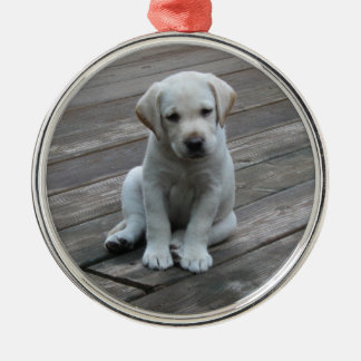 White Labrador Retriever Puppy Christmas Ornament