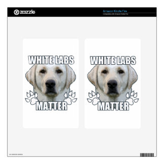 White labs matter decals for kindle fire