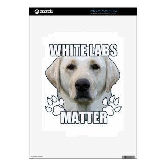 White labs matter iPad 2 skin