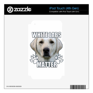 White labs matter iPod touch 4G decal