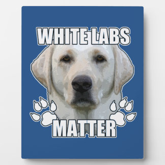 White labs matter plaque