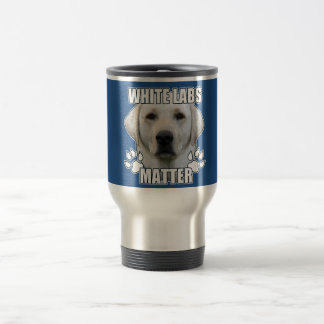 White labs matter travel mug