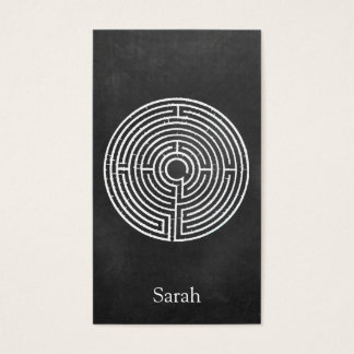 White Labyrinth Smartphone Case Business Card