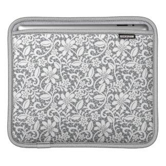 White Lace 1 iPad Sleeve
