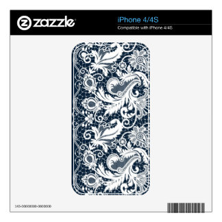 White lace 2 iPhone 4 skins