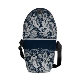 White lace 2 messenger bag