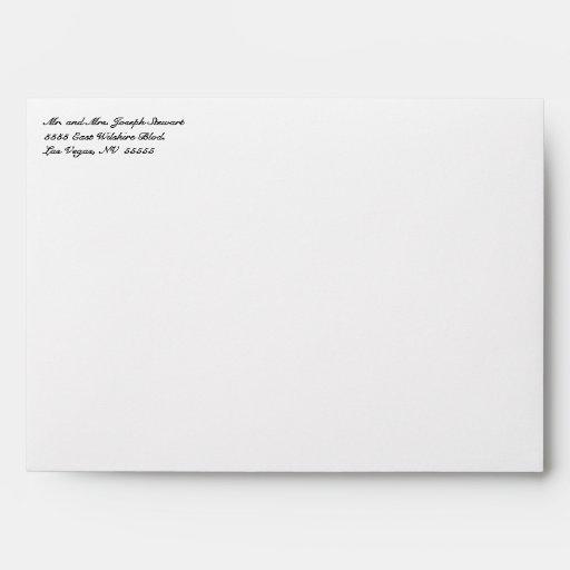 White Lace & Burlap Rustic Wedding Envelope