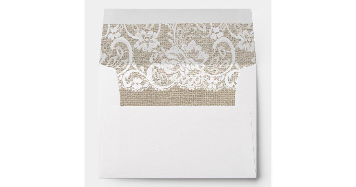 Rustic Wedding Printed & Mailing Envelopes | Zazzle