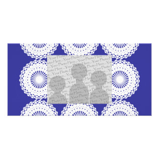 White Lace Design Pattern. Card