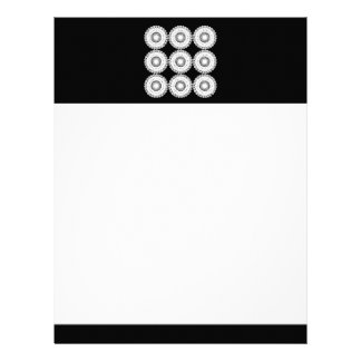 White Lace Design Pattern. Letterhead