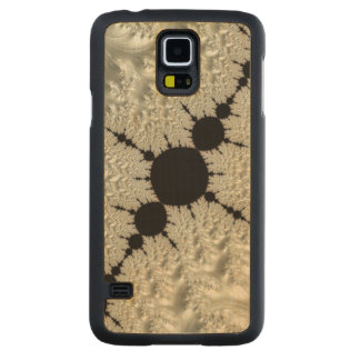 White Lace Elegant Beautiful Digital Fractal Art Carved® Maple Galaxy S5 Case