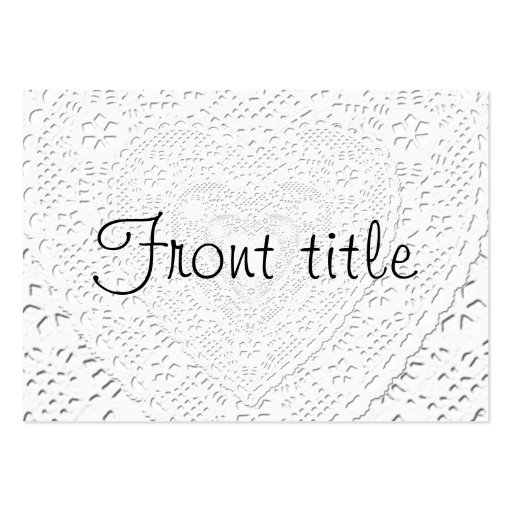 White Lace Fabric  Background Template Large Business Cards (Pack Of 100)