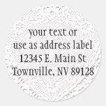 White Lace Fabric Image  Background Sticker