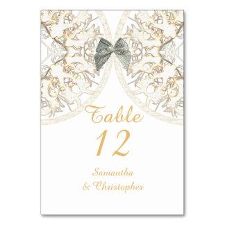 White lace filigree old ant vintage damask wedding card