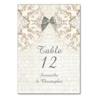 White lace filigree vintage parchment  wedding card