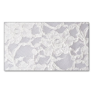White Lace Flower Lace Pattern Background Pure Business Card Magnet