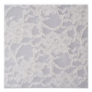 White Lace Flower Lace Pattern Background Pure Poster