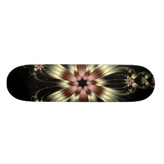 White Lace Flowers Skateboard