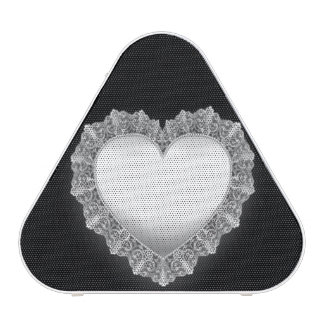 White Lace Heart Customizable Speaker