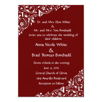 White Lace Invitation