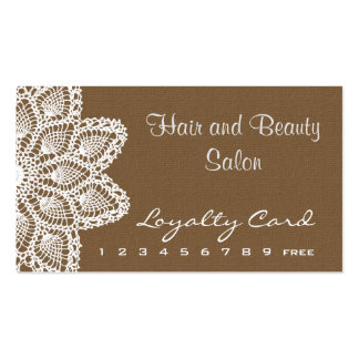 White Lace Loyalty Card hair and beauty salon