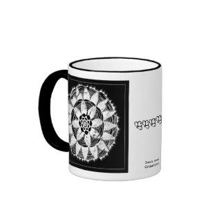 white lace mandala on black mug 2
