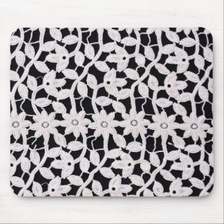 white lace mouse pad