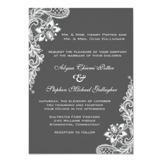 White lace on any background color card
