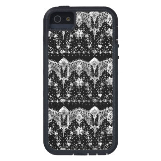 WHITE LACE ON BLACK iPhone SE/5/5s CASE