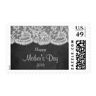 White Lace On Chalkboard Happy Mother's Day Postage