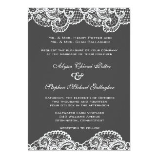 White lace on choice of background color card