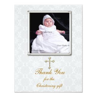 White Lace Religious Photo Card
