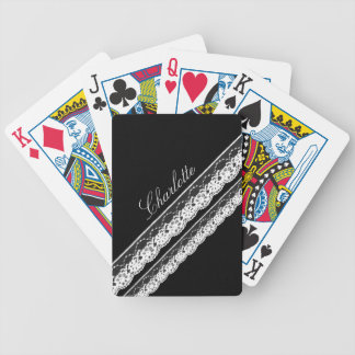White Lace Ribbons Deck of Cards
