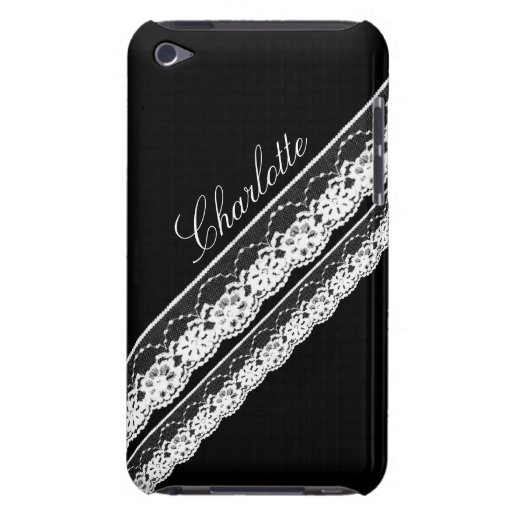 White Lace Ribbons iPod Touch Barely There Case iPod Case-Mate Case