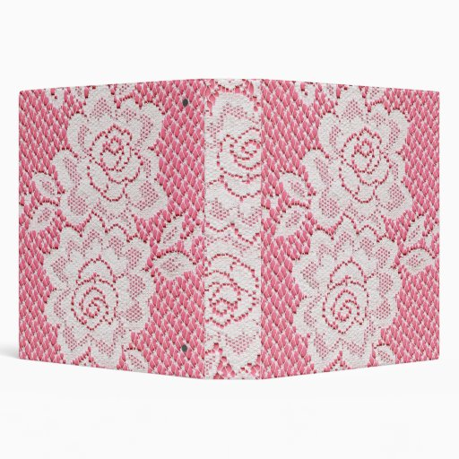 White Lace Roses Binder