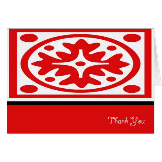 White Lace Thank You Card
