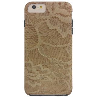 White Lace Tough iPhone 6 Plus Case