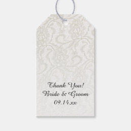 White Lace Wedding Favor Tags
