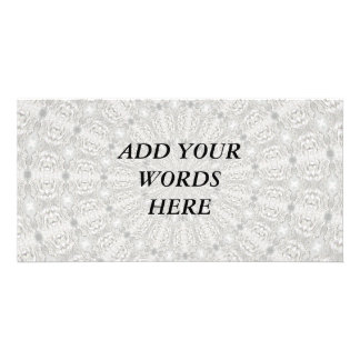 White Lace Wedding Kaleidoscope (Your Words Here) Card