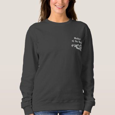 Bride Themed White Lace Wedding - Mother of the Bride Embroidered Sweatshirt