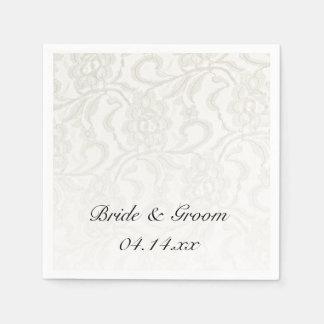 White Lace Wedding Paper Napkins