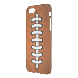 White Laces Orange Brown American Football Clear iPhone 8/7 Case