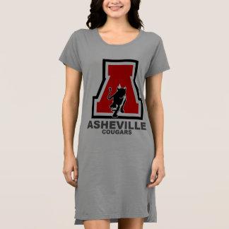 White Ladies Dress w/asheville running cougar logo