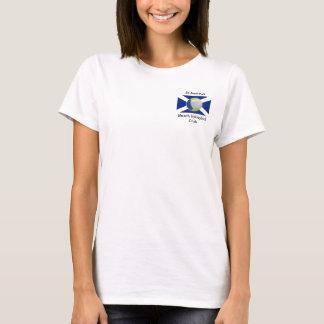 White ladies t-shirt + StABVC logo + sun on back