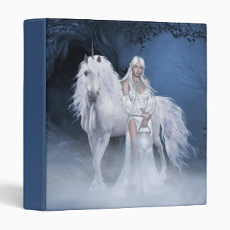 White Lady and Unicorn Binder