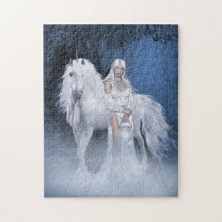 White Lady and Unicorn Puzzle