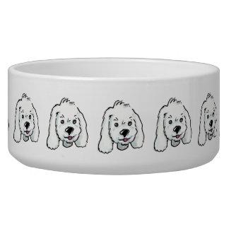 White Lady Dog Bowl