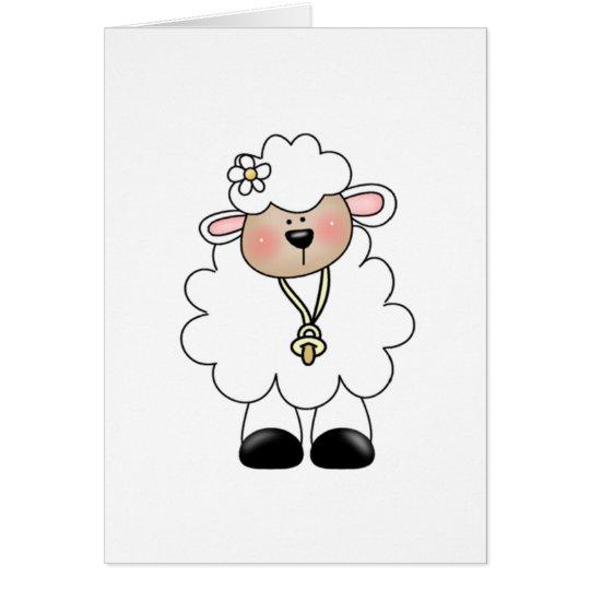 White Lamb Card