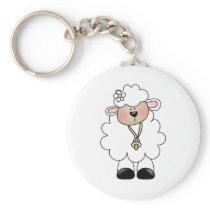 White Lamb Keychain